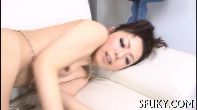 Cherry lips Asian gets fucked hard - scene 9