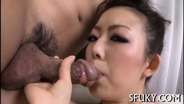 Cherry lips Asian gets fucked hard - scene 6