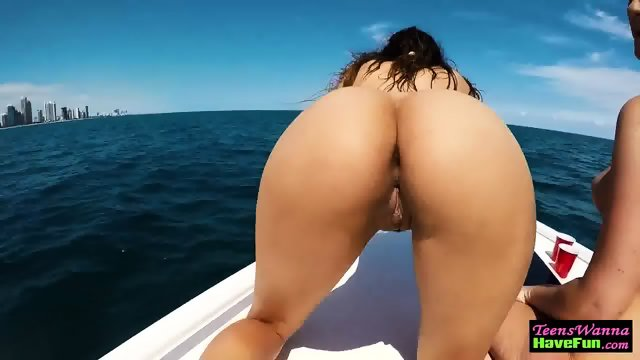 Teens facialized on yacht
