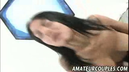Amateur Latina rides a thick cock for the cam - scene 11