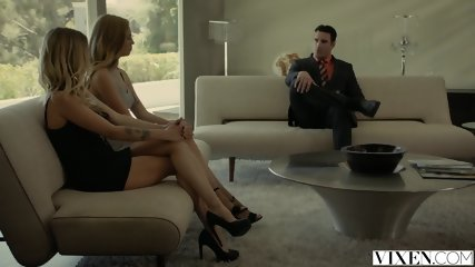 VIXEN Rich Boss Gets Threesome With Two Blondes - scene 2