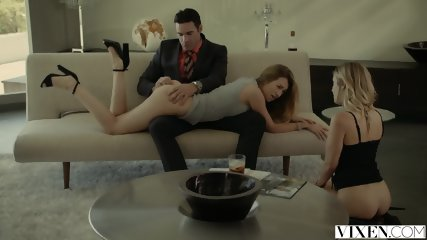 VIXEN Rich Boss Gets Threesome With Two Blondes - scene 5