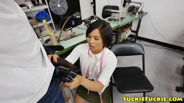 Blackdick sucking asian amateur assfucked - scene 1