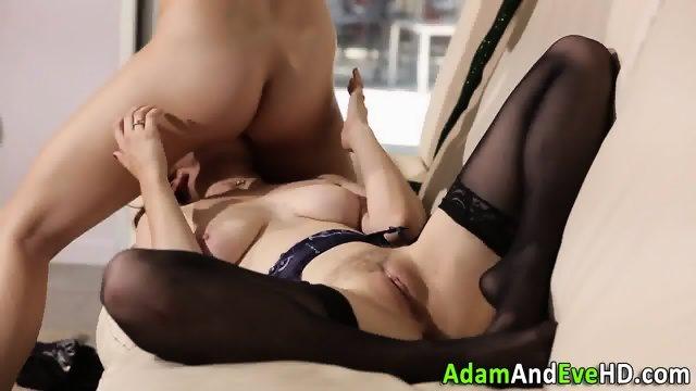 Lesbos in stockings lick - scene 12