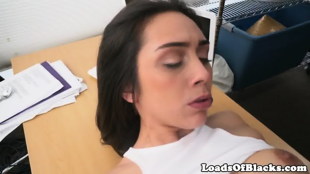 Casting babe railed by big black cock - scene 8