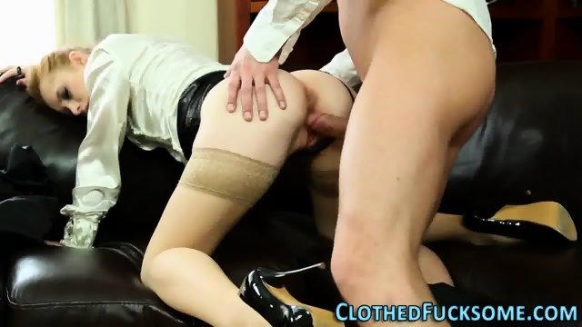 Posh clothed ginger lick - scene 7