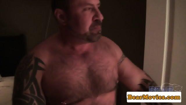 Tattooed bear assfucking cub in bathroom - scene 3