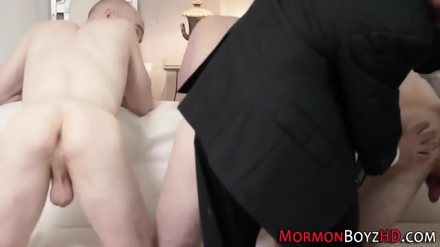 Mormon elders sucking rod - scene 3