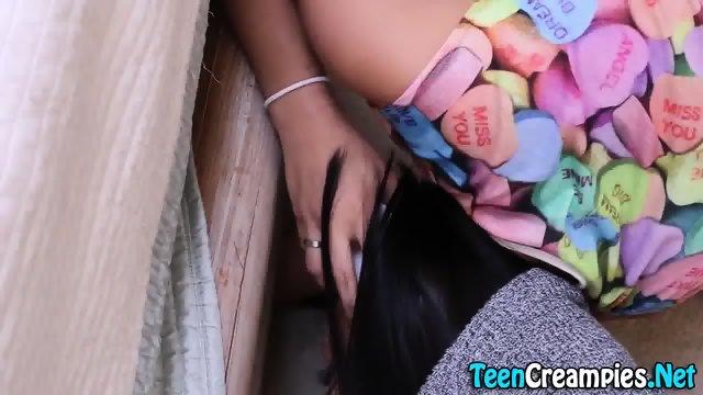 Teen pussy jizzed into - scene 3