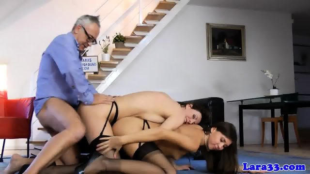 British milf shares cock with gorgeous babe - scene 8