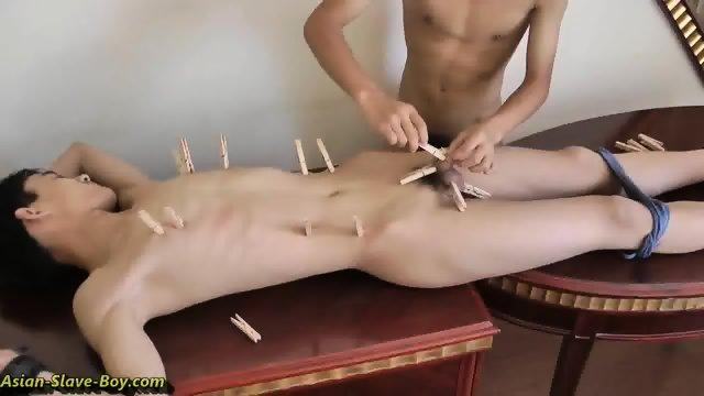 Asian boy bondage