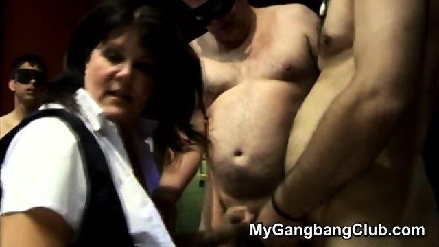 Mature Brunettes Have A Gang Bang - scene 9