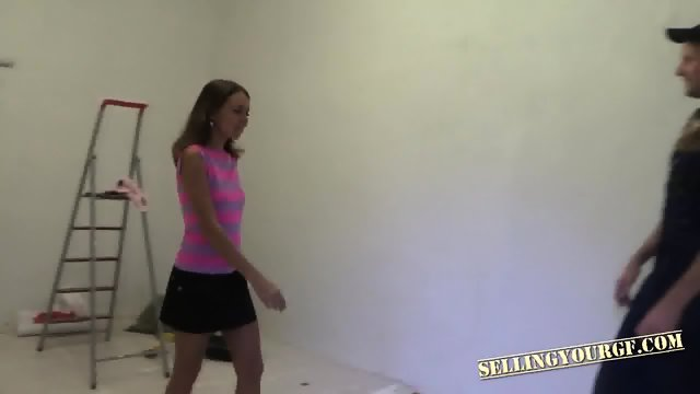 Brunette Teen Pays With Her Body - scene 3