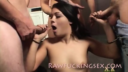 TEENAGE CUM DUMPSTER TAKES ON AN ARMY OF DICKS