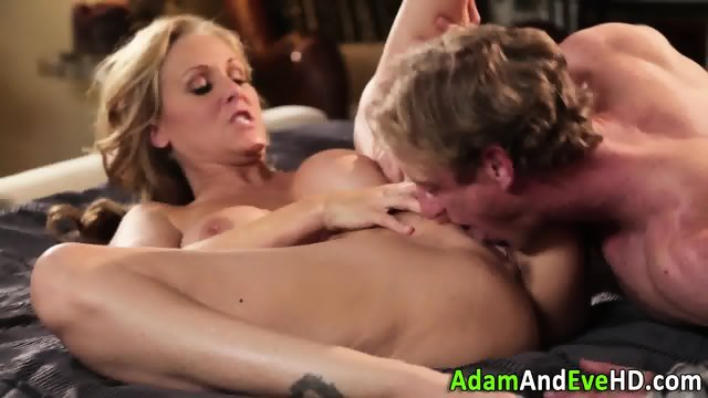 Milf with big tits jizzed