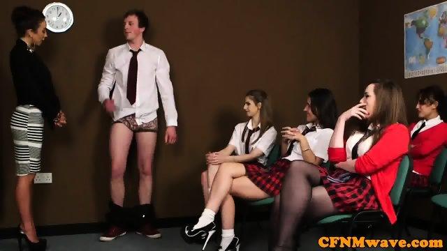 British CFNM schoolgirl cocksucking classmate - scene 4
