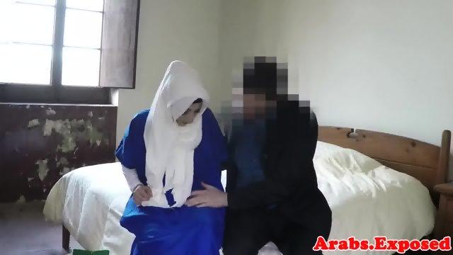 Arabian beauty fucked and jizzed in mouth