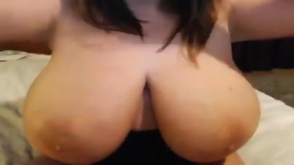 Busty Chick Plays With Huge Boobs On Webcam