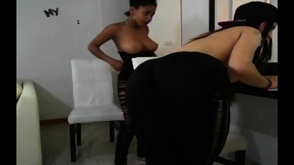 Ebony And White Chick Get Nasty Webcam  - More Videos On Dslwebcam.com - scene 9
