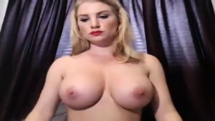 Big Tit Blonde Playing On Camera