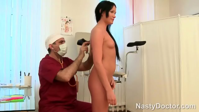 Russian Babe Takes Doctors Cock Anal