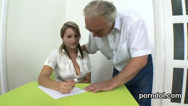 Ideal college girl is seduced and drilled by her older lecturer