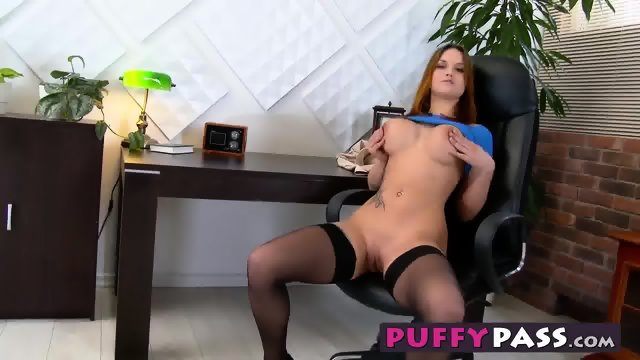 Brunette hottie barbara bieber goes solo with a red sex toy