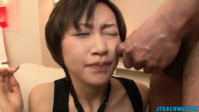 Akina holds several dicks in her greedy mouth - scene 8
