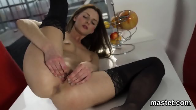 Hot czech girl stretches her narrow twat to the special - scene 10