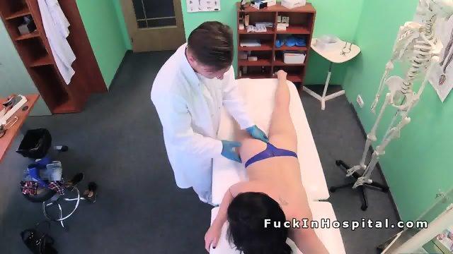 Doctor examines and fucks brunette babe - scene 8