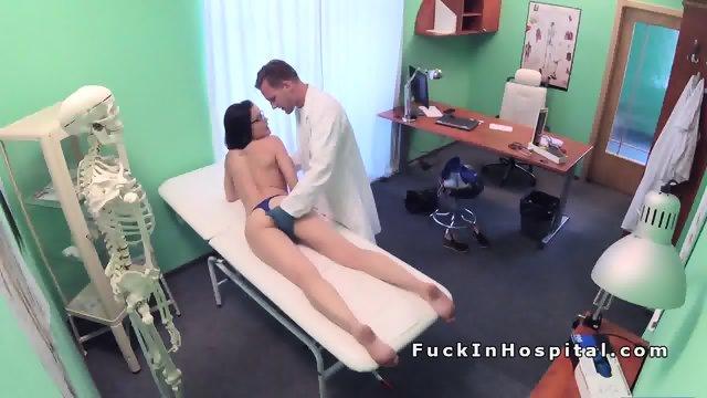 Doctor examines and fucks brunette babe - scene 9