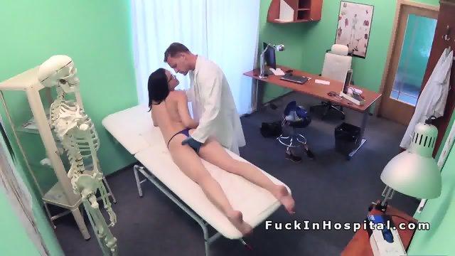 Doctor examines and fucks brunette babe - scene 10