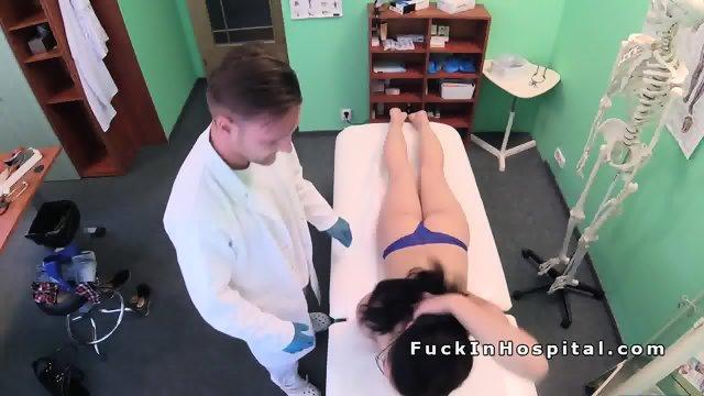 Doctor examines and fucks brunette babe - scene 7