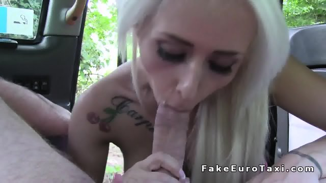 Busty blonde earns free ride in fake taxi - scene 9
