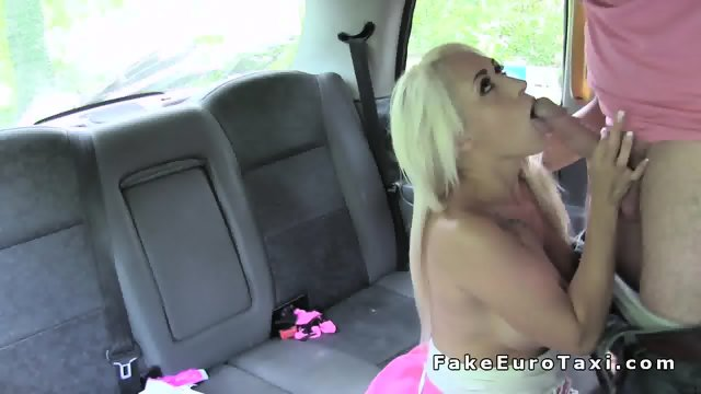 Busty blonde earns free ride in fake taxi - scene 7