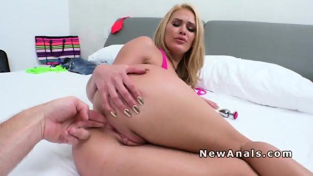 Blonde girlfriend in bikini gets anal fuck - scene 5