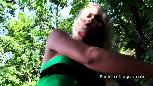 Blonde fucking pov in the public park - scene 12
