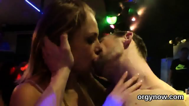 Lovesome babes give head and enjoy screwing and sex orgy - scene 12