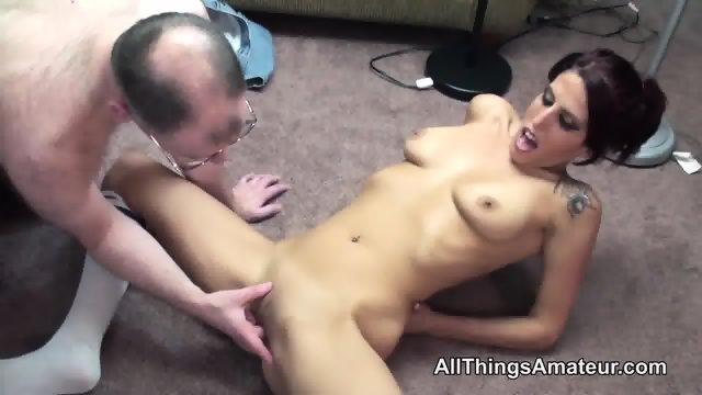 Hot bodied skinny milf has sex with an a grey haired man - scene 6