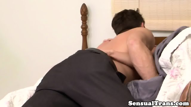 Asian tranny assfucking lucky guy until cum - scene 4