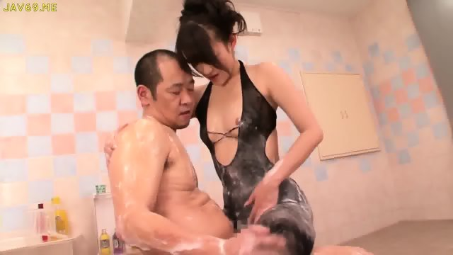 Shou Nishino Soap Superb Woman Pantyhose Ass Whip Ru Nume - scene 5