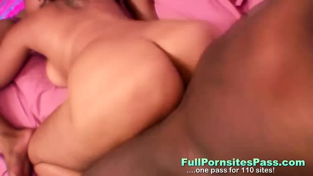 Ebony Babes Share One Cock - scene 8