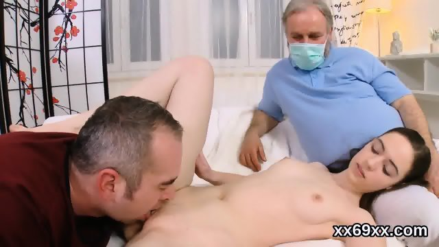 Guy assists with hymen examination and fucking of virgin cutie - scene 8