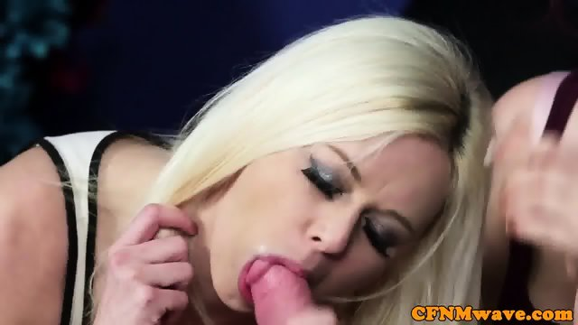 Euro CFNM femdom edging blokes throbbing cock - scene 11