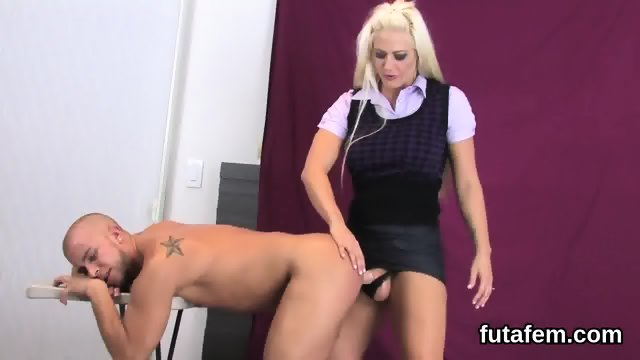 Nymphos fuck dudes anal hole with huge strap dildos and squirt jizz