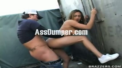 Drunk schoolgirl pounded in public after the class - scene 1