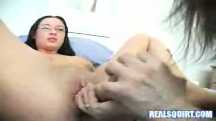 Squirting Lesbians Fucking With A Huge Dildo