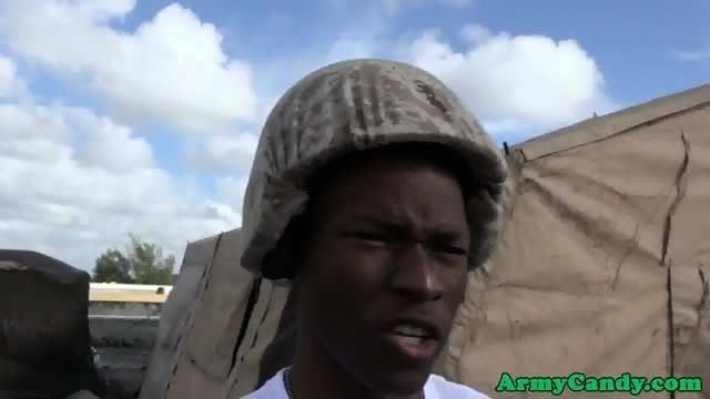 Black soldier spitroasted outdoors