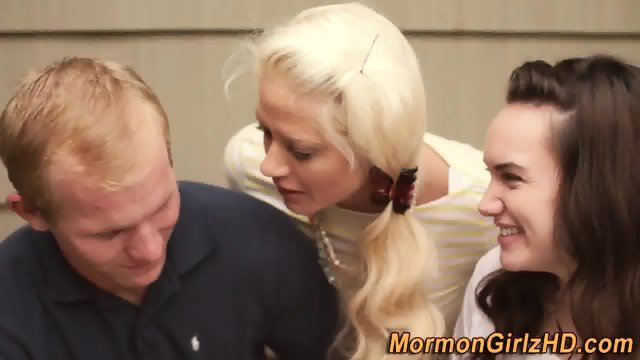 Mormon 3way cum anointed