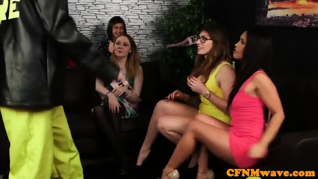 CFNM bachelorette wanking male strippers cock